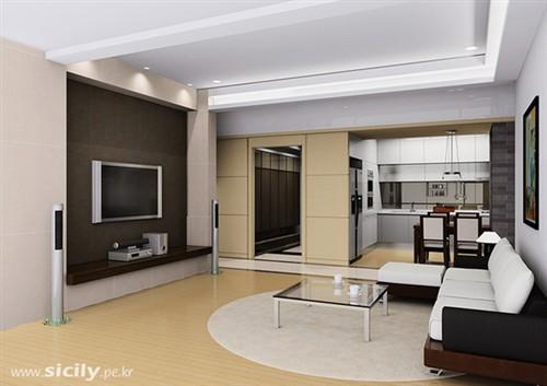 简约的电视墙设计效果图 家装图库,家庭装修图库,家装效果
